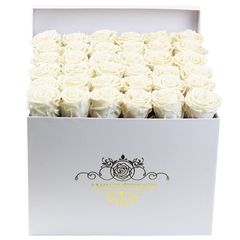 White Eternal Roses for Diner en Blanc Tables