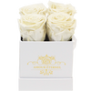 Image of White Eternal Roses for Diner en Blanc Tables