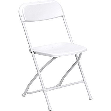 Folding White Chair for Dîner en Blanc