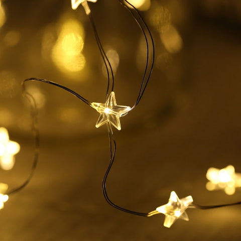 Star-Shaped Decorative String Lights for Diner en Blanc
