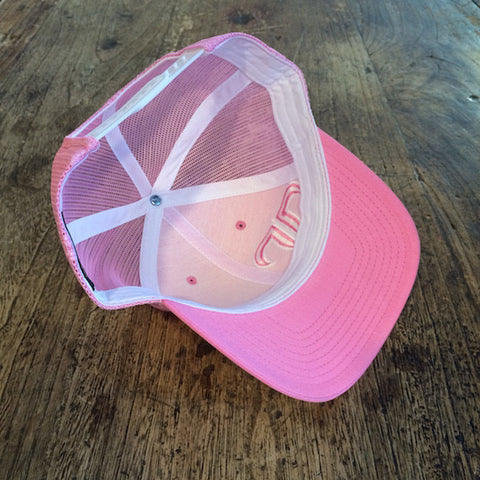 Rank Bull Trucker Cap in Pink