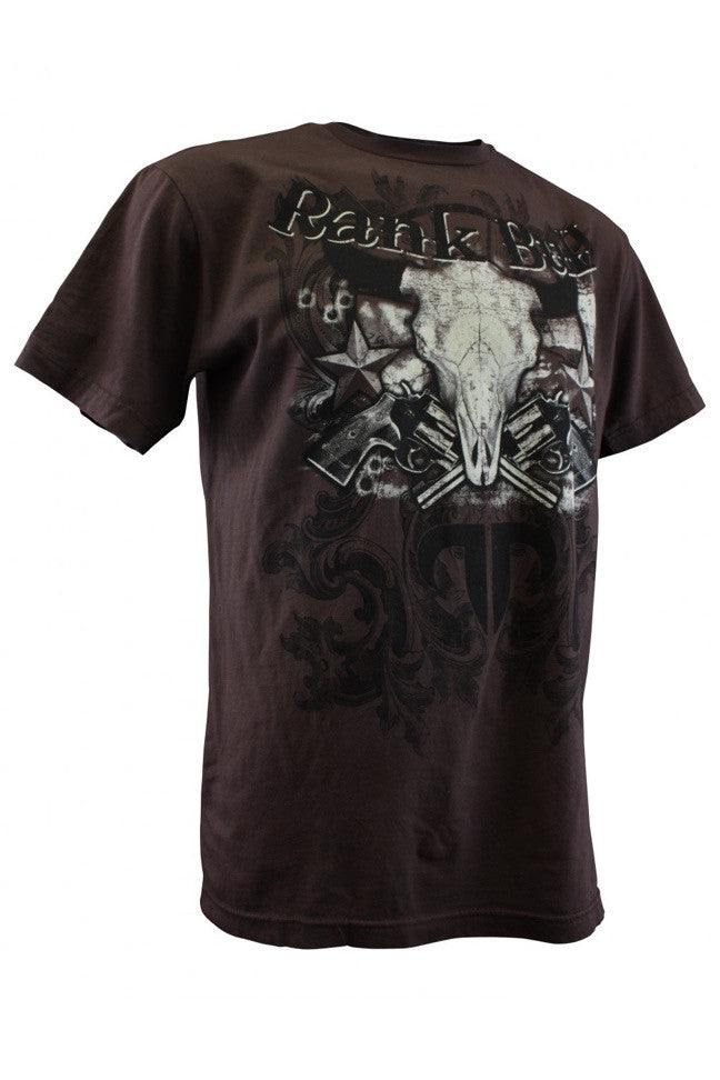Rank Bull Buffalo Skull Men's Premium T-Shirt