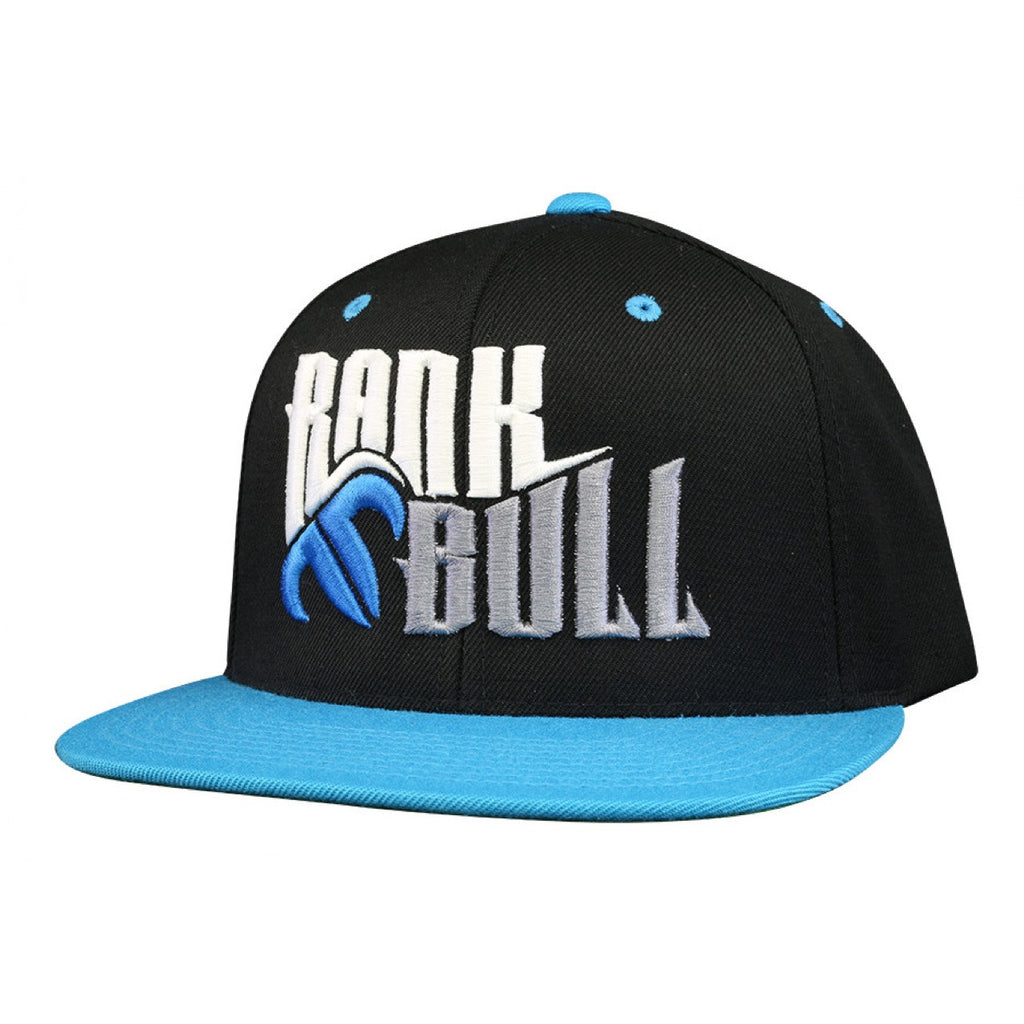 Rank Bull Snap Lite Pro-Style Wool Blend Flexfit Cap in Black and Teal Hat - Country Lifestyle Brand