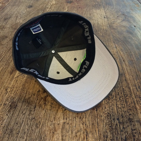 Rank Bull Youth Charcoal and Green Cap