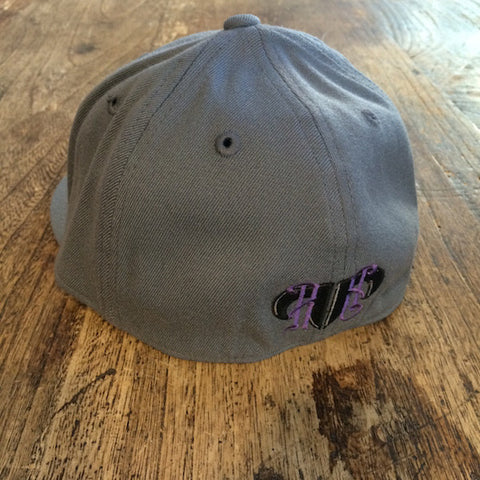 Rank Bull Flexfit 210 Hat in Charcoal with Purple