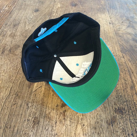 Rank Bull Teal and Black Hat Undervisor