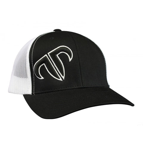 Rank Bull Icon Trucker Cap in Black and White Hat - Country Lifestyle Brand
