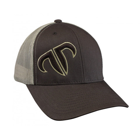 Rank Bull Icon Trucker Cap in Brown and Khaki