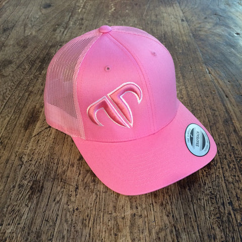 Rank Bull Icon Trucker Cap in Pink
