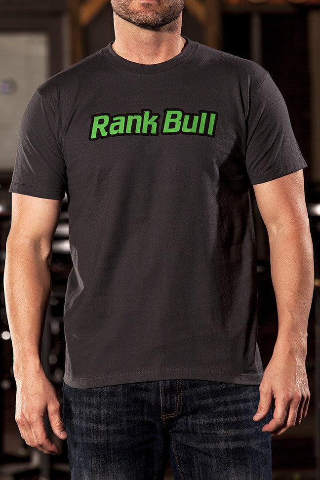 Rank Bull Logo Men's Premium T-Shirt in Charcoal Country Lifestyle Brand