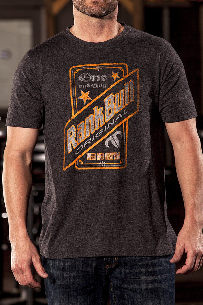 Rank Bull Original Men's Premium T-Shirt in Charcoal