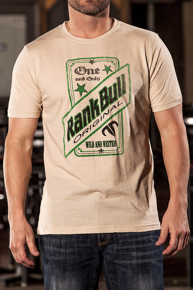 Rank Bull Original Men's Premium T-Shirt in Cream