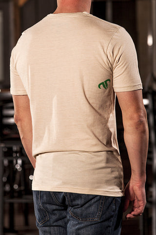 Rank Bull Original Men's Premium T-Shirt in Cream - Back