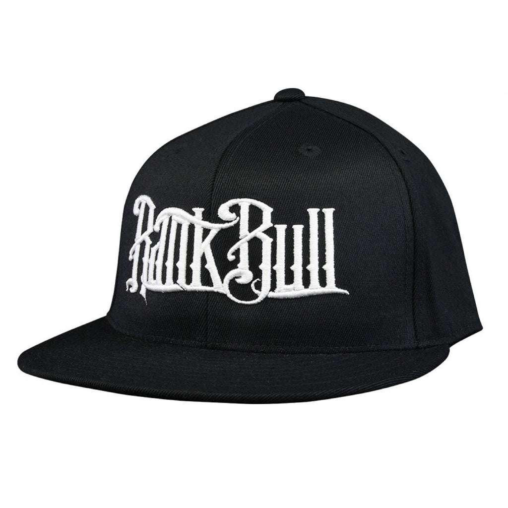 Rank Bull Premium Flexfit 210 Cap in Black with White Script Logo Hat - Country Lifestyle Brand