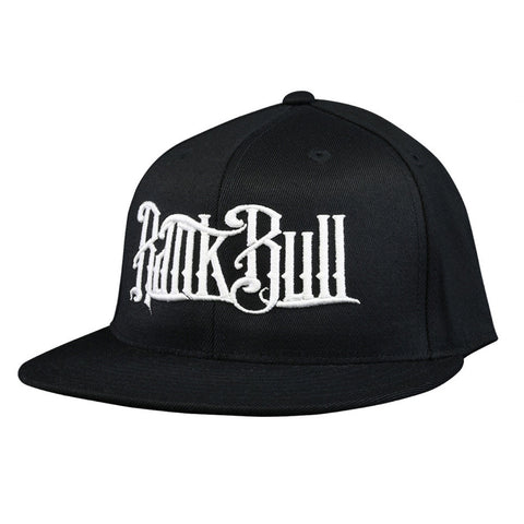 Rank Bull Premium Flexfit 210 Cap in Black with White Script Logo