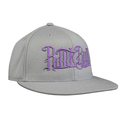 Rank Bull Premium Flexfit 210 Cap in Charcoal with Purple Script Logo Hat - Country Lifestyle Brand