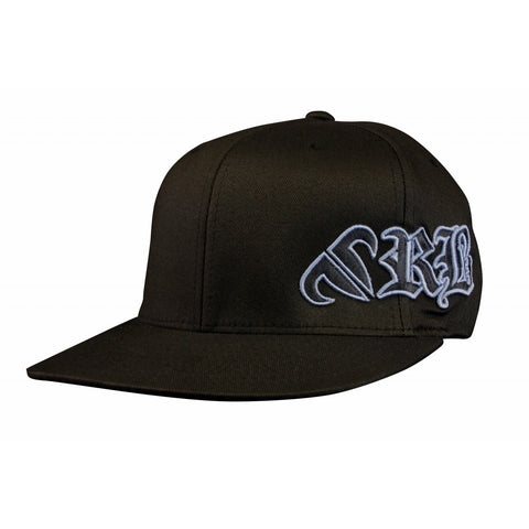 Rank Bull RB Premium Flexfit 210 Cap in Black with Charcoal Logo