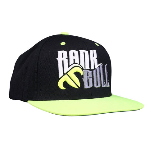 Rank Bull Snap Lite Pro-Style Wool Blend Flexfit Cap in Black and Neon Yellow - Country Lifestyle Brand