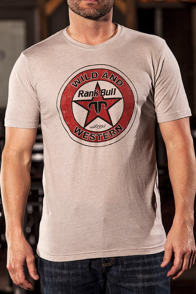 Rank Bull Tex Men's Premium T-Shirt in Light Grey