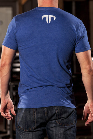 Rank Bull Wave Men's Premium T-Shirt in Blue - Back