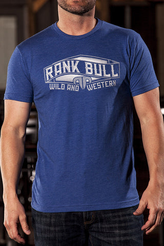 Rank Bull Wave Men's Premium T-Shirt in Blue