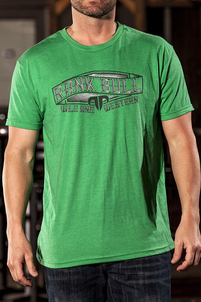 Rank Bull Wave Men's Premium T-Shirt in Green