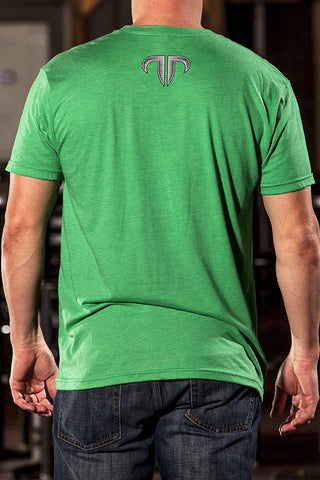 Rank Bull Wave Men's Premium T-Shirt in Green - Back