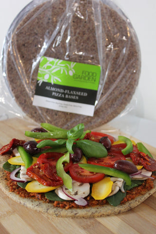 Almond-flaxseed pizza bases