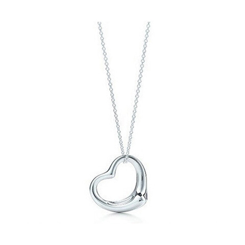 High-end Silver Plated Heart Pendant Necklace