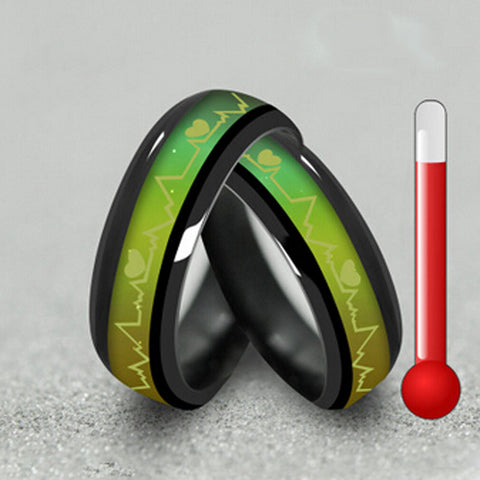 Titanium Black Mood Ring