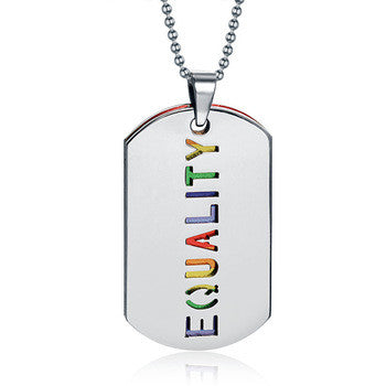 Rainbow EQUALITY Dual Dog Tag