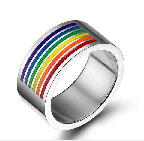 Rainbow Striped Stainless Steel WIDE