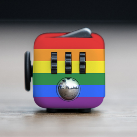 Rainbow Anti-Stress Fidget Cube