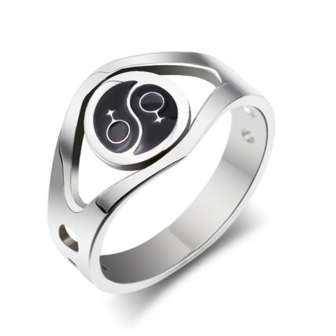 Lesbian Pride Symbol Stainless Steel Ring