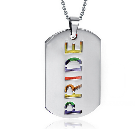 Rainbow PRIDE Dual Dog Tag