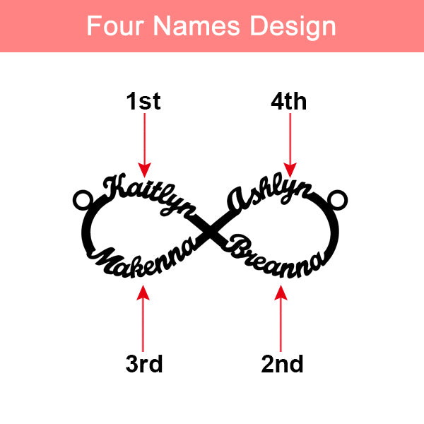 Personalized Infinity Name Necklace