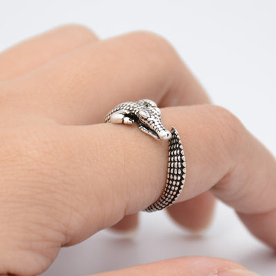 Crocodile Wrap Ring