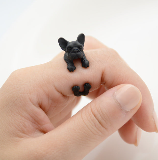 French Bull Dog Wrap Ring