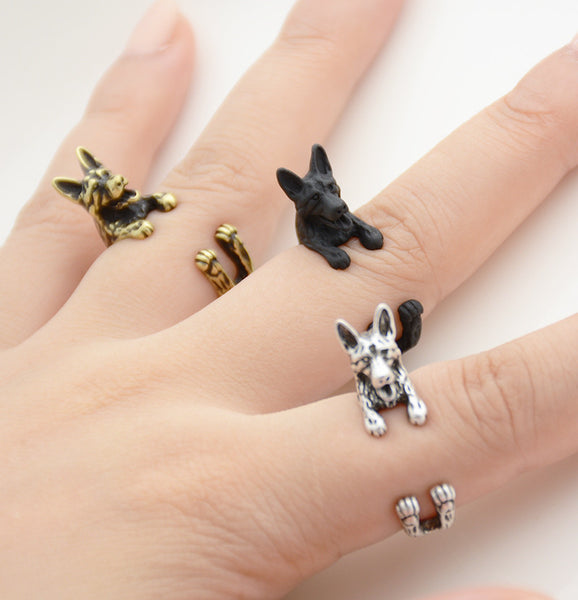 German Shepherd Wrap Ring