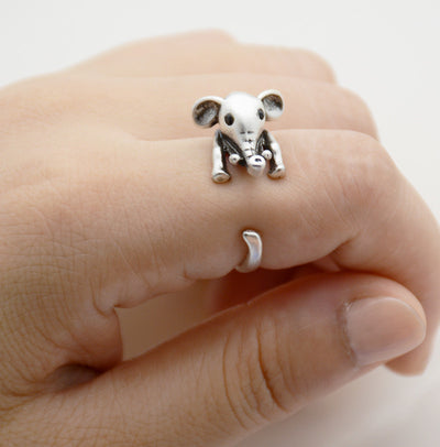 Baby Elephant Wrap Ring