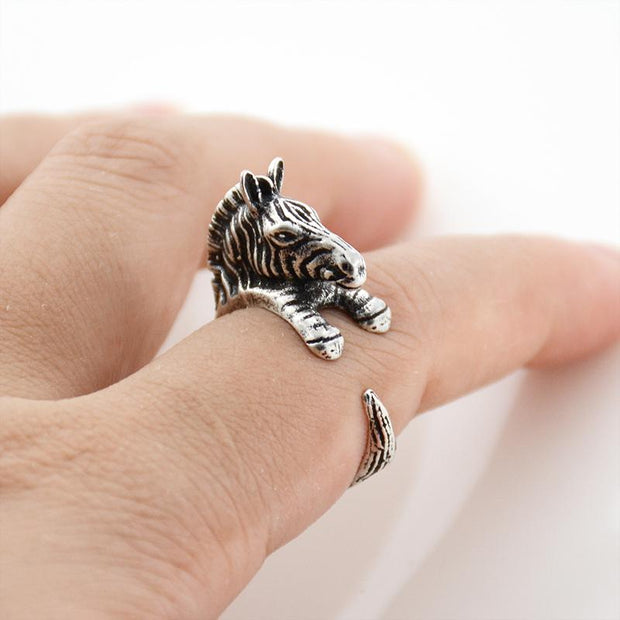 Zebra Wrap Ring