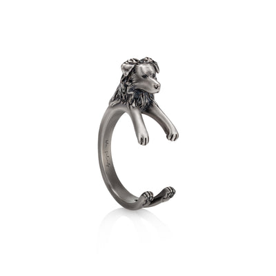 Australian Shepherd Wrap Ring