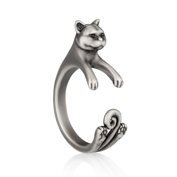 British Shorthair Wrap Ring