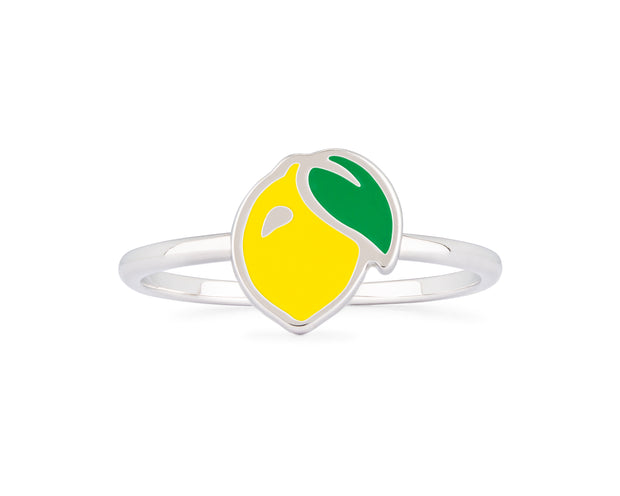 Enamel Lemon Ring