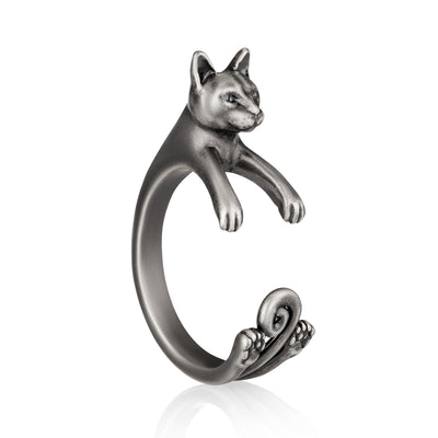 Russian Blue Wrap Ring