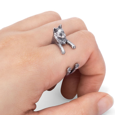 Samoyed Wrap Ring
