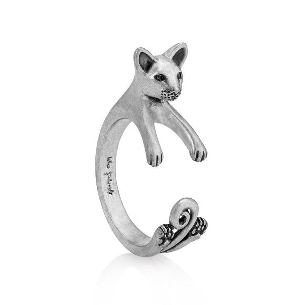 Siamese Cat Wrap Ring
