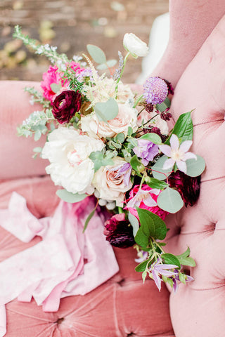 Pink Plum Bridal Bouquet