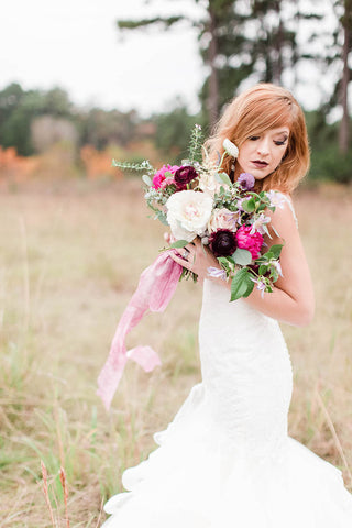Silk Ribbon Bridal Bouquet