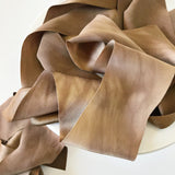 Copper (Slightly Marbled) - Luxury Silk Ribbon By the Yard